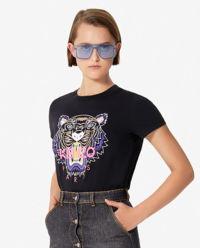 Czarny t-shirt z tygrysem