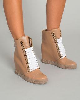 Hnědé sneakersy na klínu