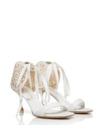 Skórzane białe sandały Lidia