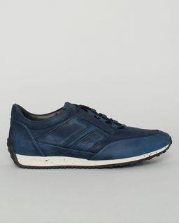 Niebieskie sneakersy ze skóry