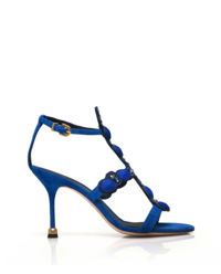 Zamszowe sandały z kryształami Kamila