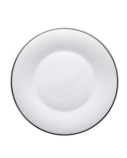 Porcelanowy talerz serwisowy Lizzard Platinum