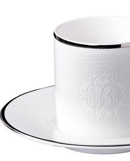 Porcelanowa filiżanka do kawy Lizzard Platinum