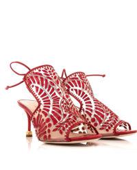 Czerwone sandały z wzorem Dominika
