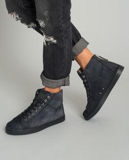 Sneakersy ze skóry zamszowej
