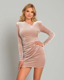 Pudrové mini šaty