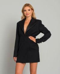 Černé mini šaty