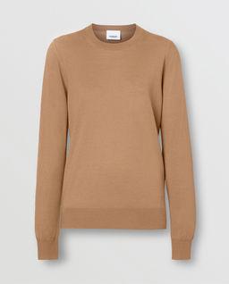 Beżowy sweter z wełny merino