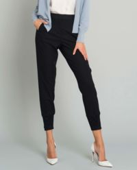 Czarne spodnie z lampasem