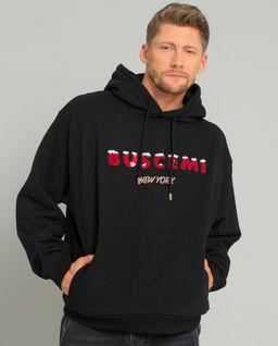 Czarna bluza oversize z logo