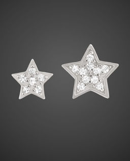 Srebrne Kolczyki Twin Stars