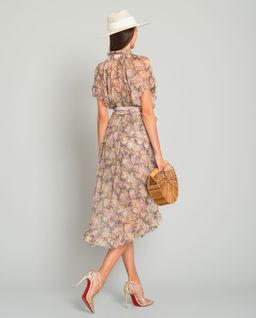 Jedwabna sukienka w kwiaty
