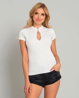 Biała wełniana bluzka