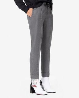 Szare wełniane spodnie