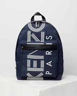 Granatowy plecak z logo