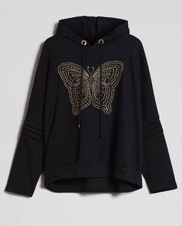 Bluza z haftowanym motylem
