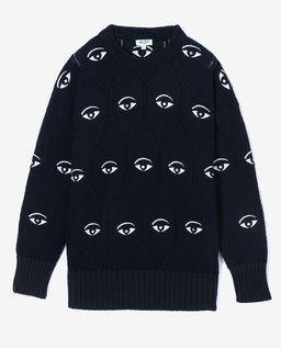 Černý svetr Multi-Eye