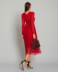 Czerwona sukienka midi