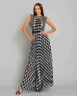 Sukienka maxi w kratę