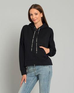 Czarna bluza z kapturem