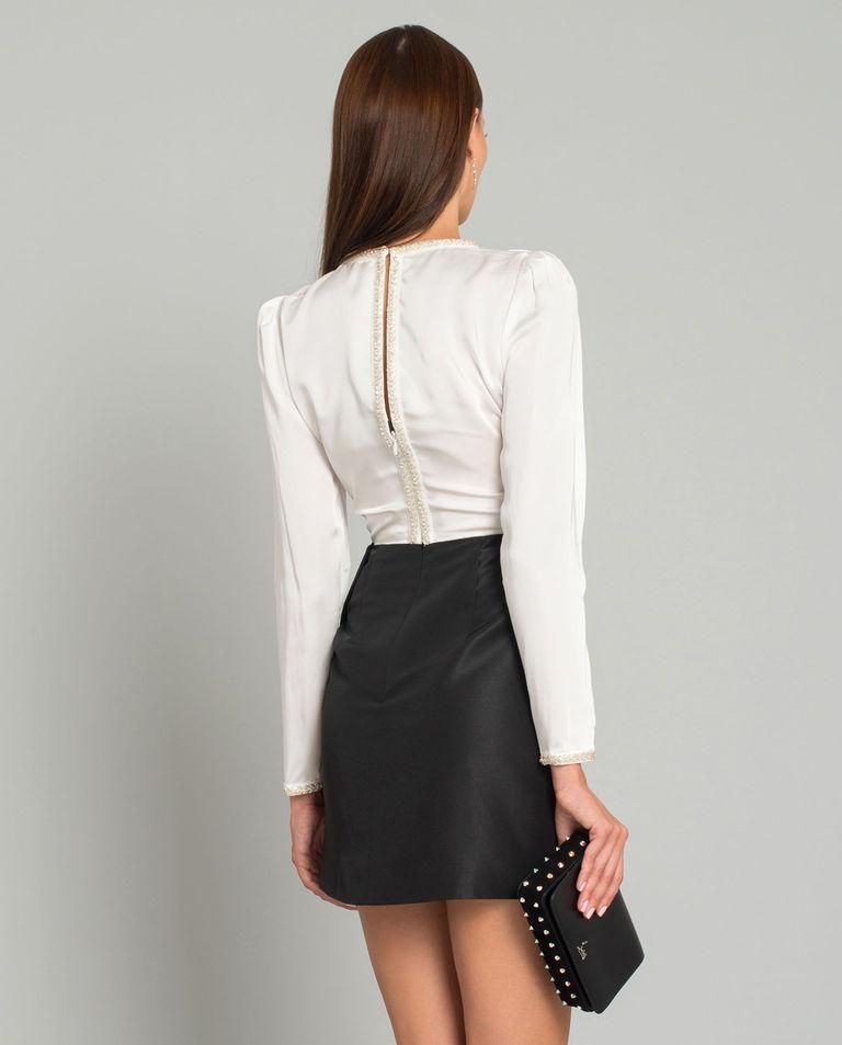 Dwukolorowa sukienka mini
