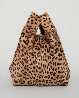 Futrzana torebka w panterkę