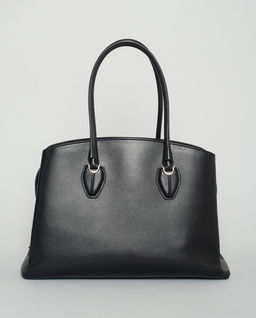 Czarna torebka shopper medium