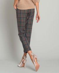 Szare spodnie w kratę