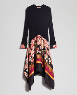 Sukienka z łączonych materiałów