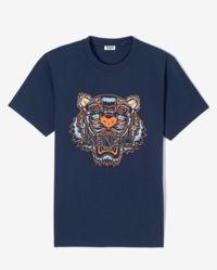 Granatowa koszulka z tygrysem