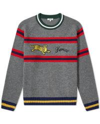 Szary sweter z tygrysem