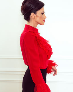 Koronkowa koszula z falbanami Red Pearl