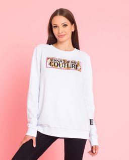 Biała bluza z logo marki