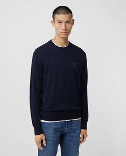 Wełniany sweter z logo
