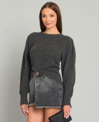 Šedý kašmírový svetr