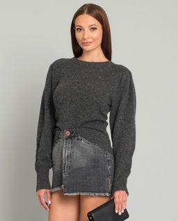 Szary kaszmirowy sweter