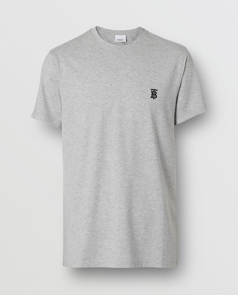 Szara koszulka z monogramem