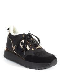 Sneakersy z futrem