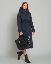 Péřový kabát s kapucí