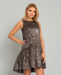 Asymetryczna sukienka z cekinami