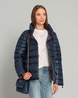 Puchowa dwustronna pikowana kurtka