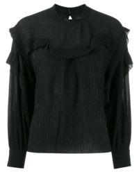 Czarna bluzka z jedwabiem