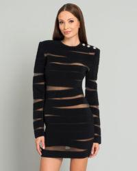 Czarna sukienka bandażowa