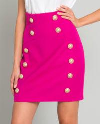 Różowa spódnica z wełny