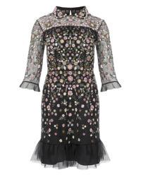 Sukienka mini z haftem