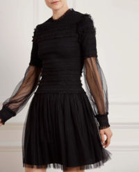 Czarna sukienka z tiulem