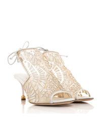 Białe sandały z wzorem Dominika