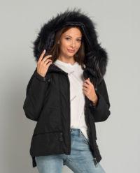 Péřová oversizová bunda s kapucí