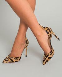 Szpilki w cętki leoparda
