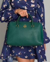 Zielona torba ze skóry Kira